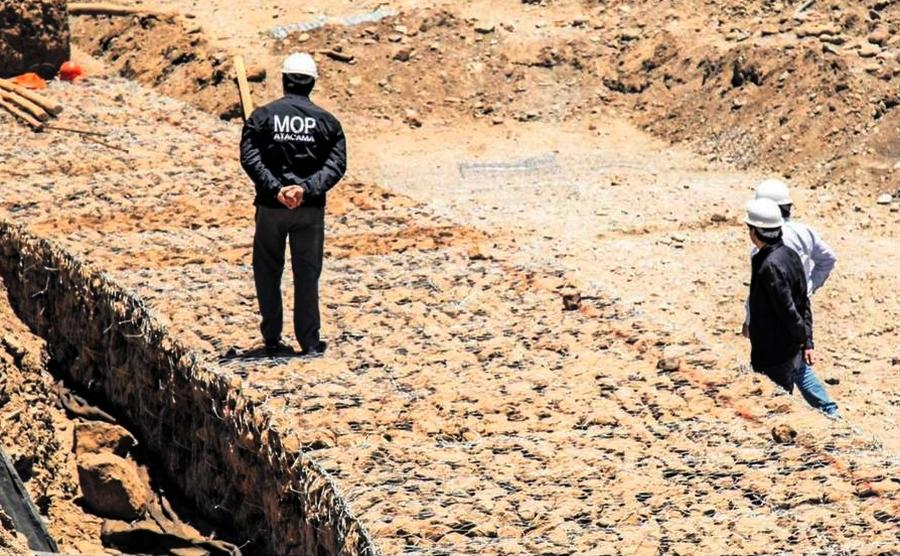 MOP avanza en obras de mitigación en Tierra Amarilla