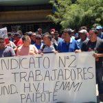 Tras 26 días finalizó huelga del Sindicato N°2 de Enami Fundición Paipote