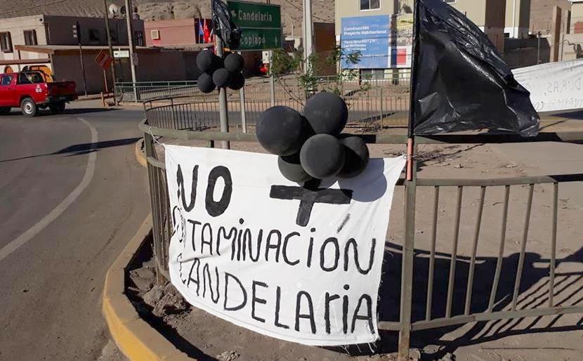 Pobladores protestan contra Minera Candelaria